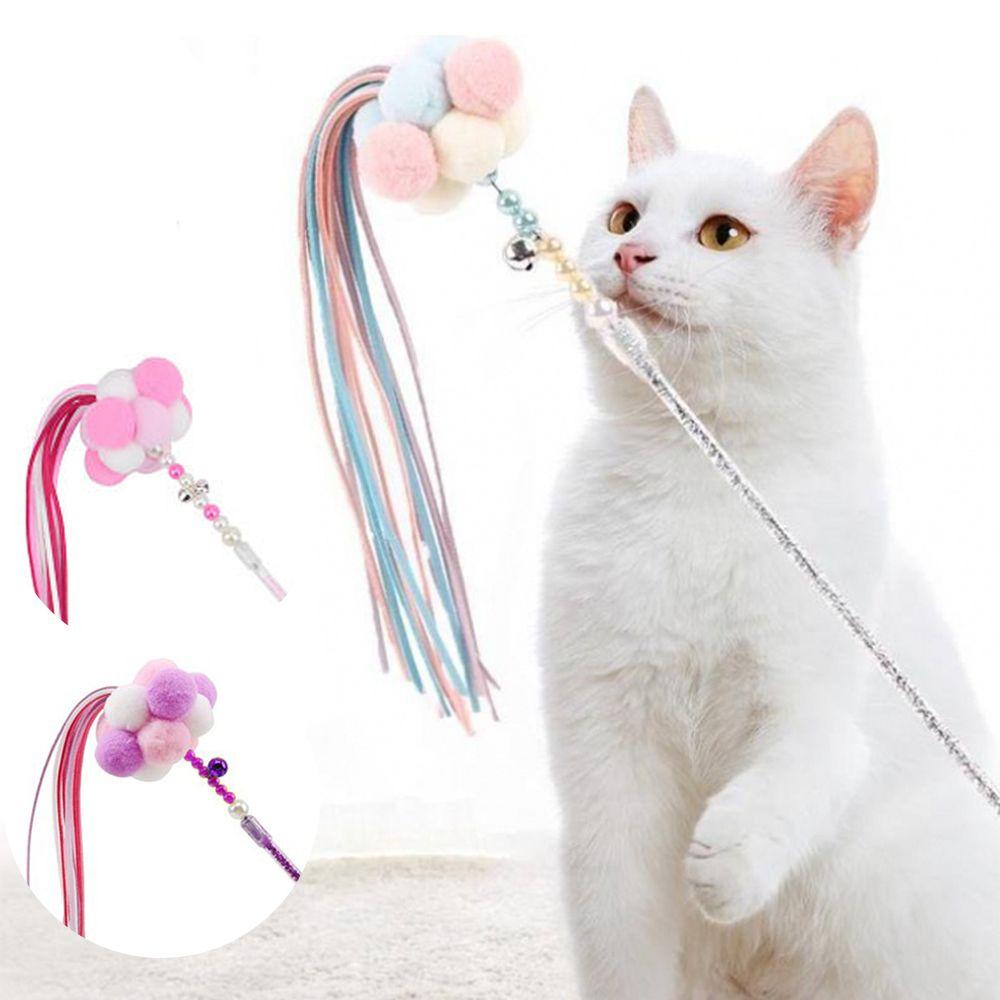 백톤 고양이낚시대 고양이낚싯대 고양이막대 장난감막대 폼폼고양이장난감 폼폼낚시대 고양이스틱 집사준비 고양이딸랑이 고양이놀잇감 고양이용품 애묘용품, 백t. No.02 고양이 낚시스틱 핑크스틱, 백t. 본상품선택