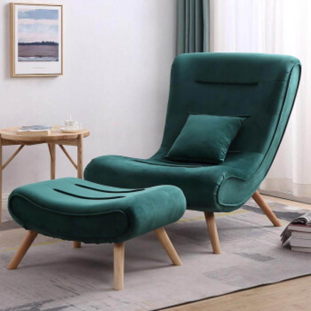 발받힘 디자이너 의자 북유럽 소파 1인용 달팽이 의자 침대 발코니 베란다 임스라운지체어 이몰라체어 이케아스트란드몬 로제까사안락의자 이케아펠로, 큐빅그린홀더+발걸이