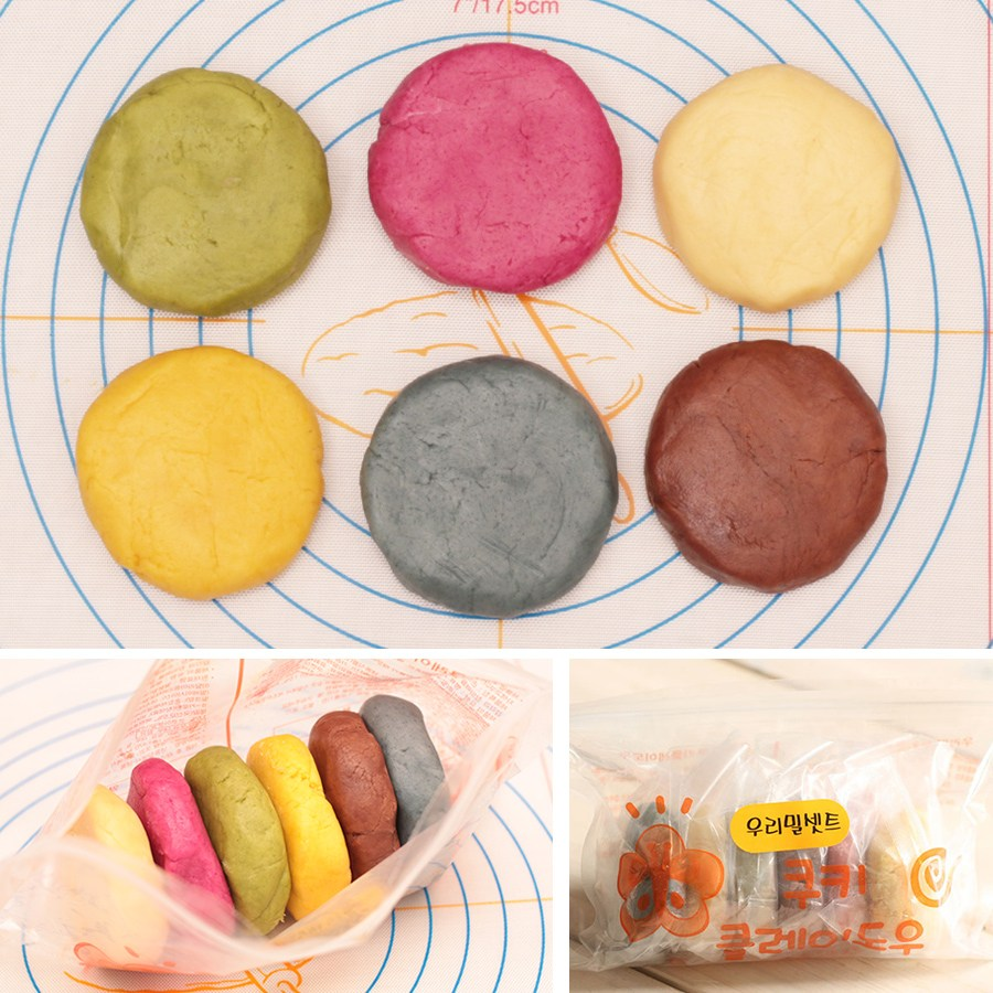 쿡앤베이크 냉장포장무료 우리밀 쿠키클레이 6색깔Set 360g, 1개