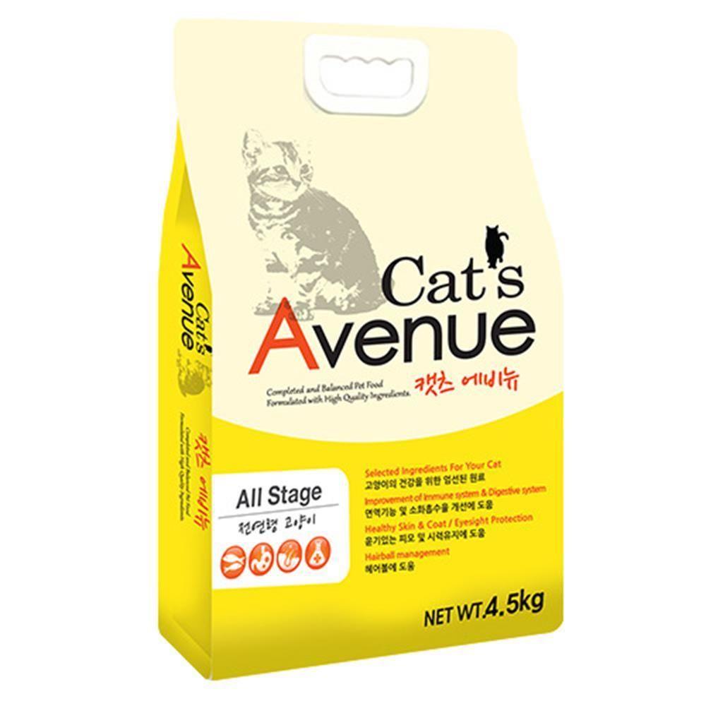 Caj + 고양이사료 캣츠 에비뉴 4.5kg_S/N:C4+242CEB ; (주)팜스코 CJN122C