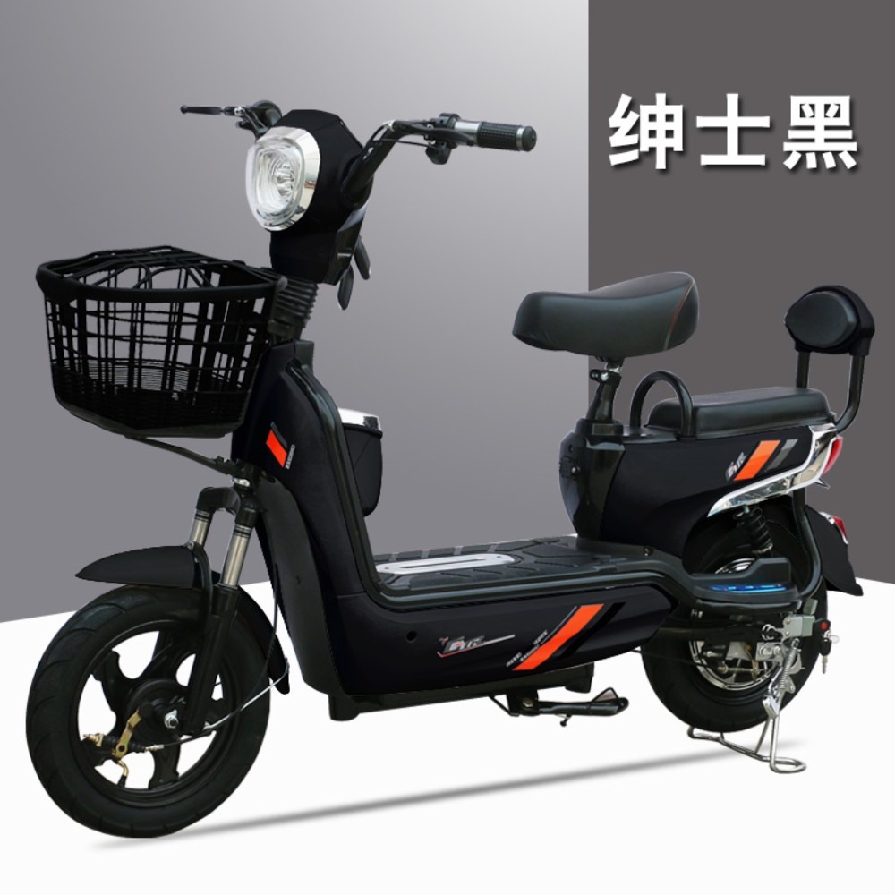 클래식 출퇴근용 성인 전기 스쿠터 자전거 48V, 특별한 전원 내구성 65KM (2 년 보증)을 갖춘 48V12A 전원의 젠틀맨 블랙개