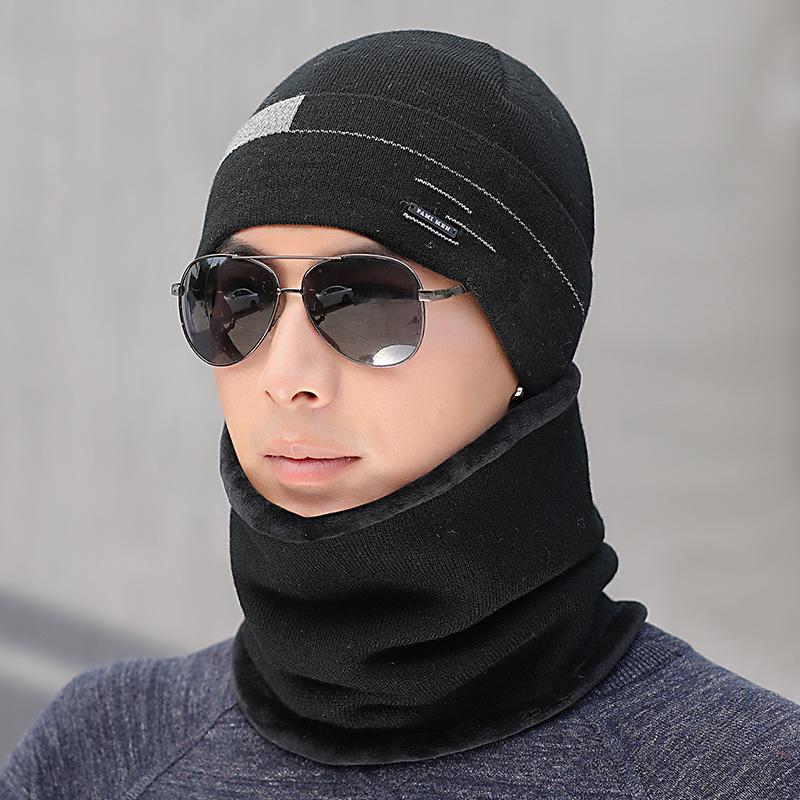 비니 모자 겨울 남성 보온 바이크 운동 귀보호모자 털추가 방한모 니트 젊은느낌 남자