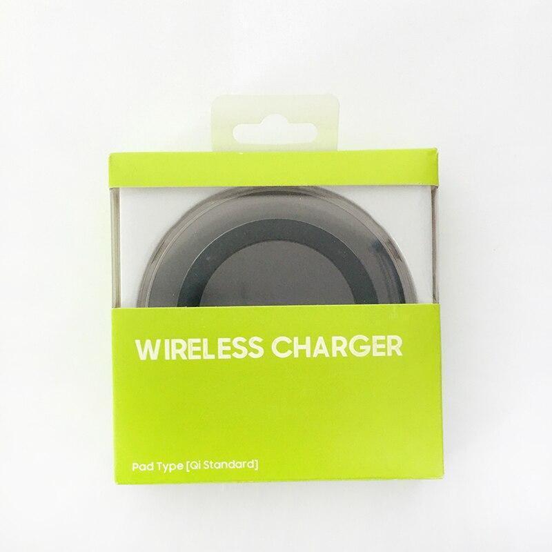 삼성 5V2A 무선 충전기 QI 어댑터 패드 마이크로 갤럭시 S7 S6 가장자리 S8 S9 S10 플러스 아이폰 8, black with box|CN (POP 5707404368)