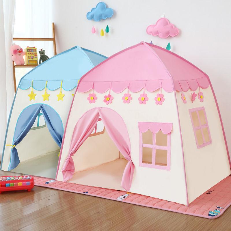 스위트레인 플레이하우스 텐트 유아 어린이 플레이룸 장난감집 놀이텐트, 핑크색