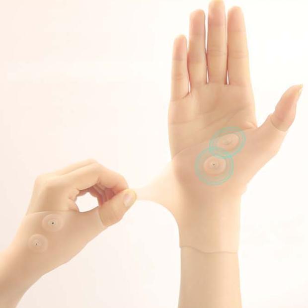 실리콘 자석 손목보호대 주부 운동인 회사원 (남녀공용) 손목 보호대, 스킨(오른손)