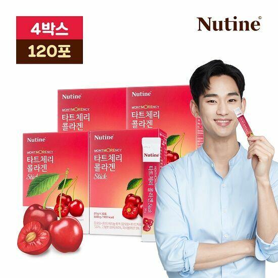 [뉴틴]김수현 몽모랑시 타트체리 콜라겐 스틱 젤리 4박스(120포), 단품, 단품