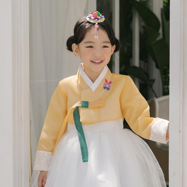 소담예인 나래빛 아동 여아 한복+국내생산 복주머니