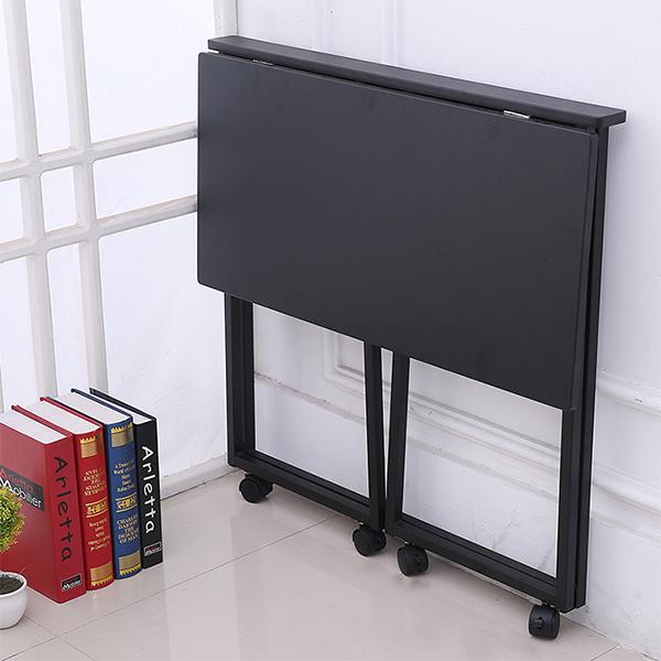 입식테이블 1인용테이블 접이식 좁은방책상, 블랙