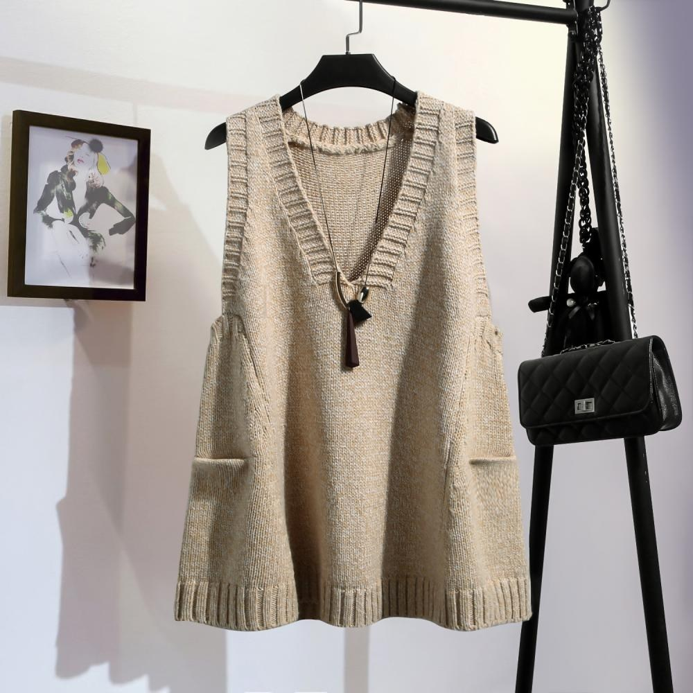 kirahosi 여성 니트 조끼 빅사이즈 여성 니트 조끼 베스트 예쁜 스웨터 280 J 11 Cq37q25