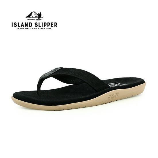 아일랜드 슬리퍼 쪼리 플립플랍 스웨이드 BLACK/BLACK-PT203SL