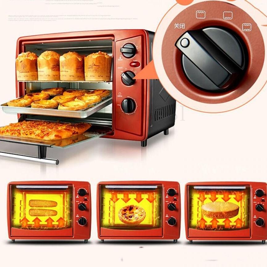 디지털 오븐 베이킹 자가용 컴팩트 바베큐 전기 미니 kirahosi 42호, 고동색+블랙