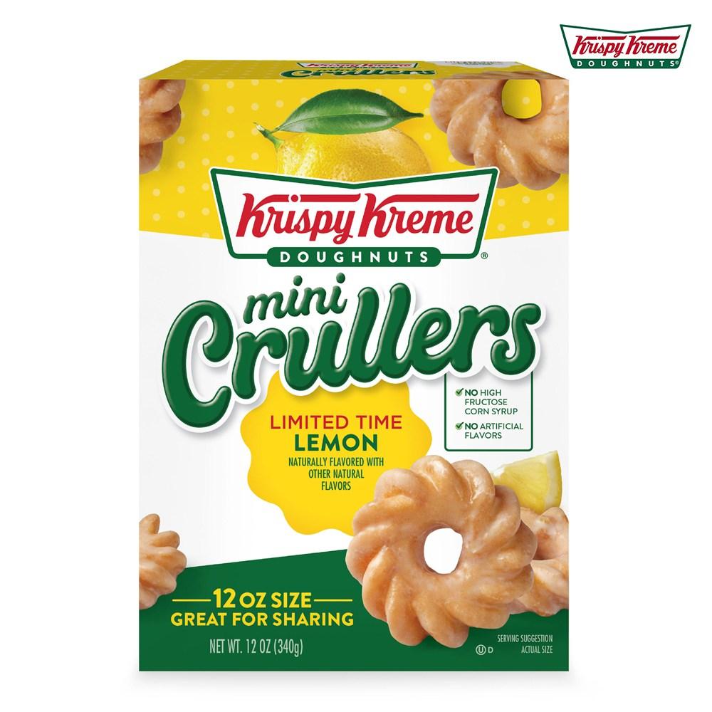 크리스피크림도넛 레몬 미니 크롤러 340g, Krispy-Kreme-Lemon-Crullers-12oz