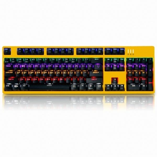 앱코 K660 완전방수 카일광축 키보드 옐로우 리니어, 옐로우 클릭