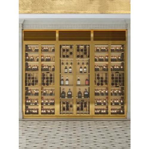 와인 냉장고 보관함 양주 미니 빌트인 맞춤 제작 전체 빌라 스테인리스 스틸 와인셀러, 01 로즈