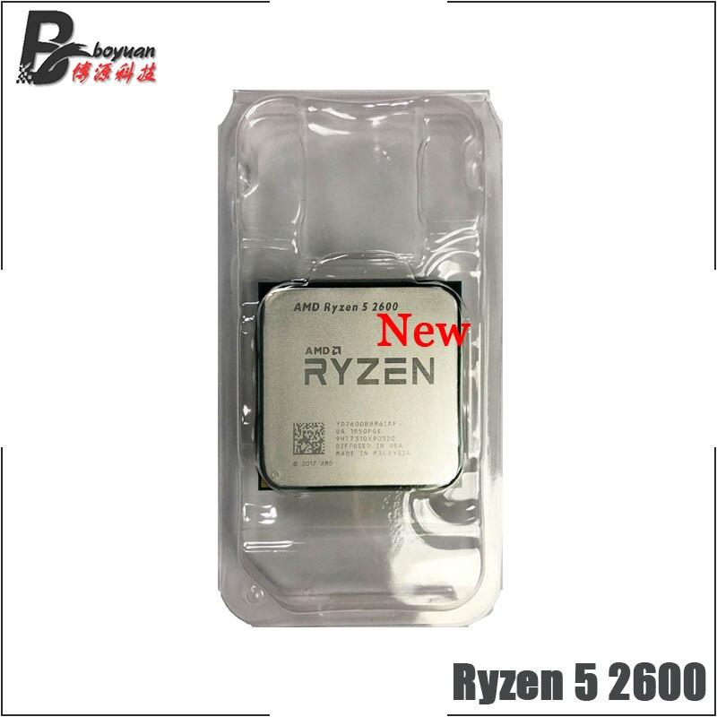 [해외]Amd ryzen 5 2600 r5 2600 3.4 ghz 6 코어 12 스레드 cpu 프로세서, One Size, One Color