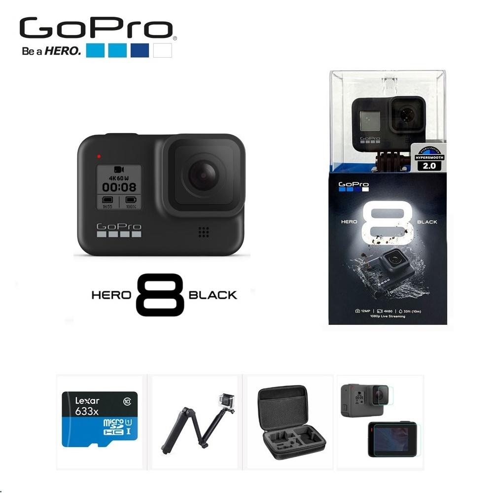 고프로 HERO8 BLACK 메모리+호환 악세서리 패키지 액션캠 정품등록이벤트, 고프로 HERO8 BLACK 64GB+호환 악세서리 패키지