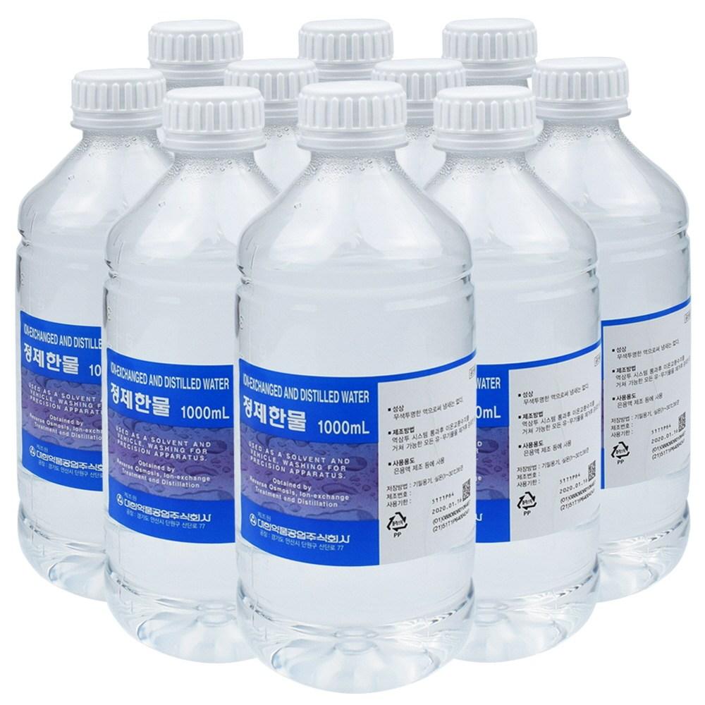 대한약품 정제한물 1000ml 10개 정제수 증류수, 단품