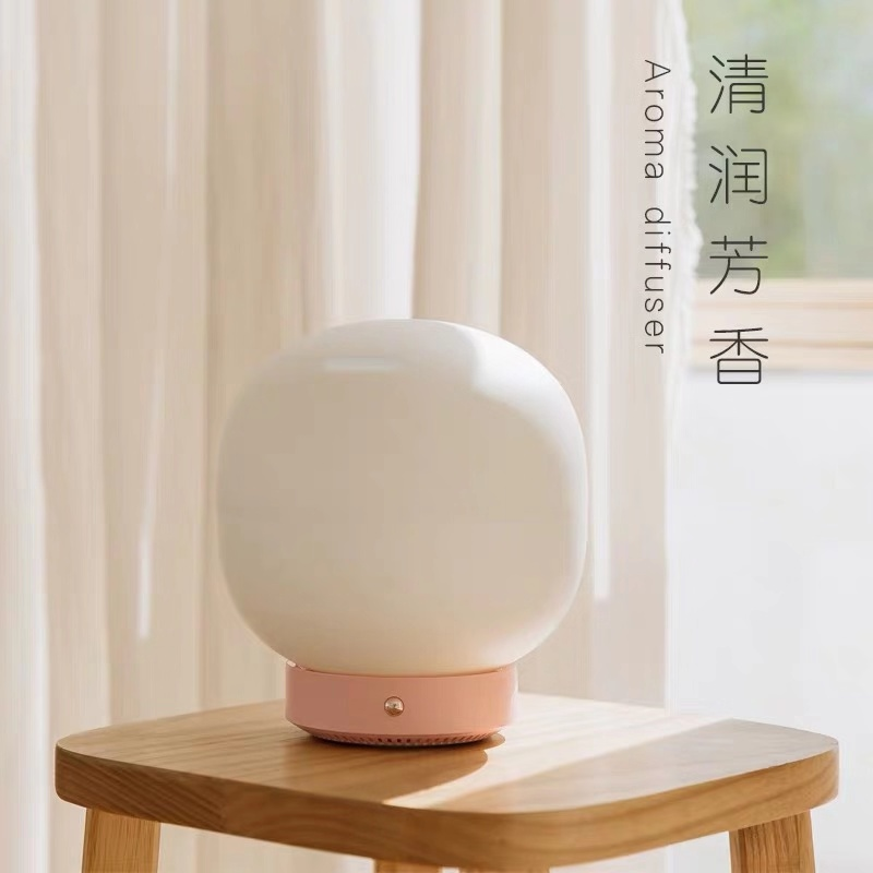 가습기 HOU고퀼리티 거품 디퓨저 아로마 소형 usb가정용 정음 침실 큰분무량 아이디어 휴대용, #01-로즈핑크