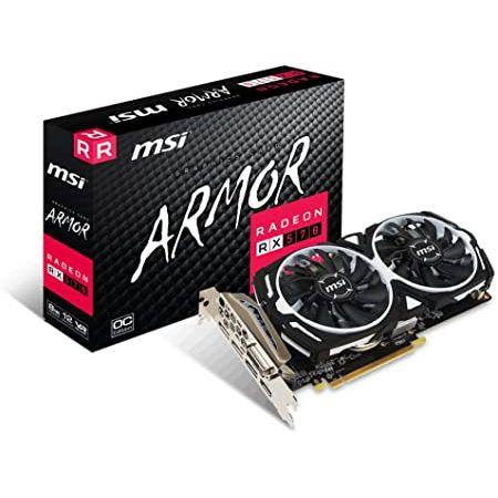 MSI Radeon RX 570 Armor G OC Graphics Card 9999993134663, 상세 설명 참조0