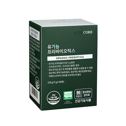 뉴트리코어 유기농 프리바이오틱스 유산균 1박스 (변비/아연/셀렌)