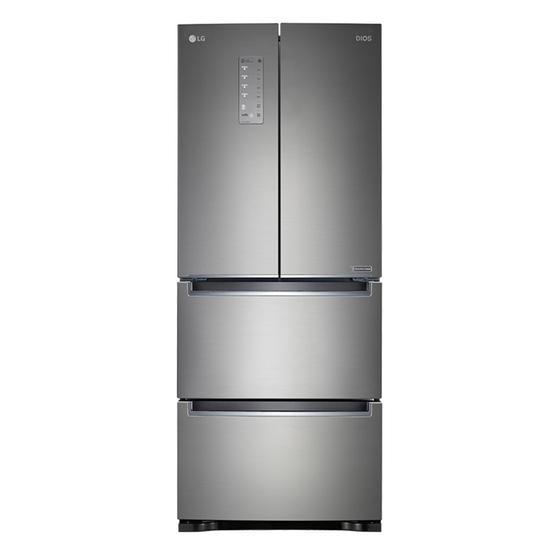 [K쇼핑]LG 디오스 4도어 스탠드형 김치냉장고 402L K414S11 /전국물류설치