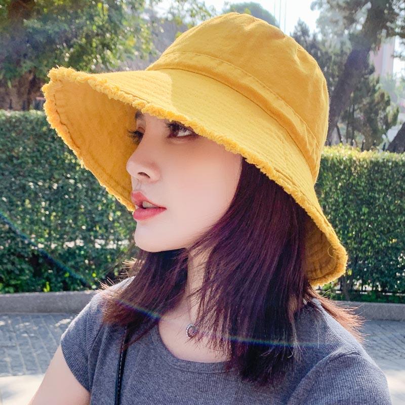 여성 모자 벙거지 예쁜 여성모자 휴대용 버킷햇 봄 여름 가을