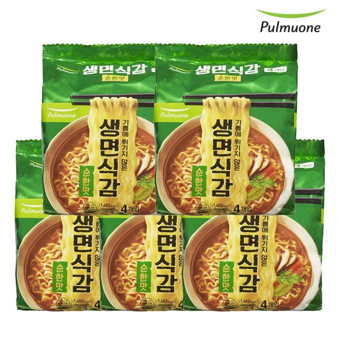 [풀무원]생면식감 순한맛 (4개입)x5봉 총20봉, 단품