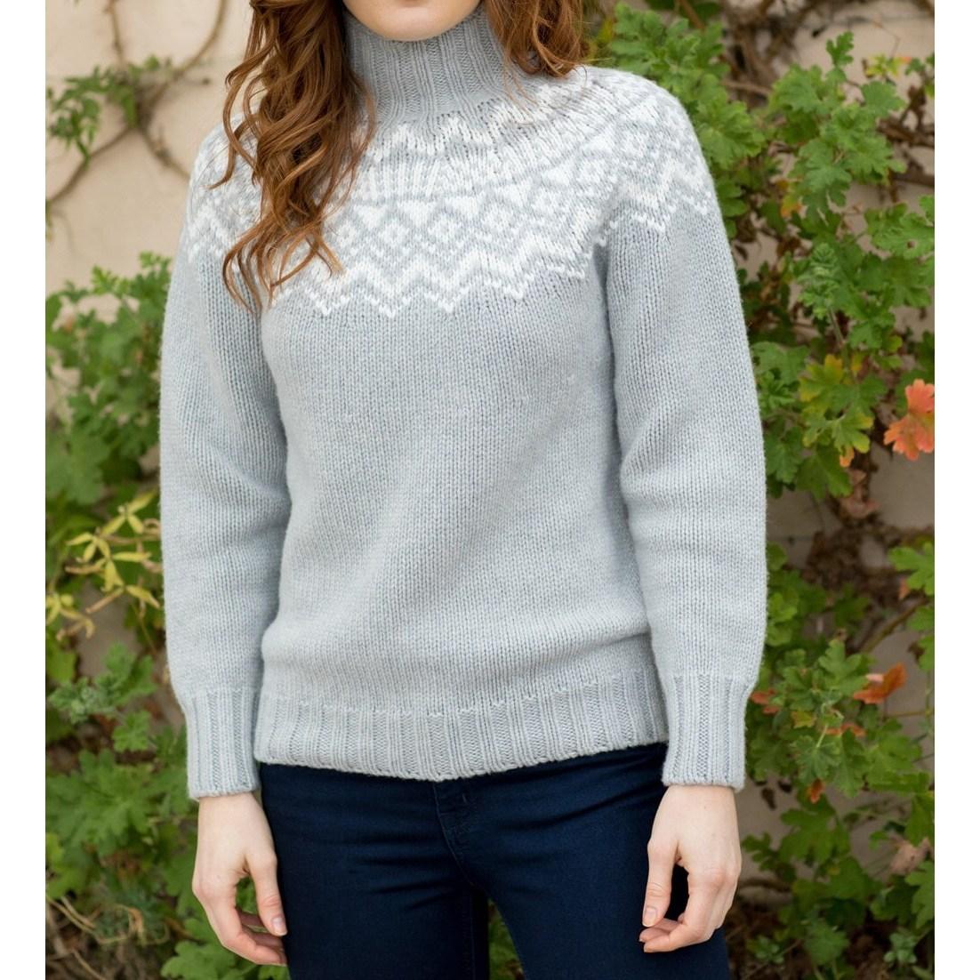 할리 오브 스코틀랜드 HARLEY OF SCOTLAND 여성 터틀넥 여자 페어아일 스웨터 울 니트 우먼
