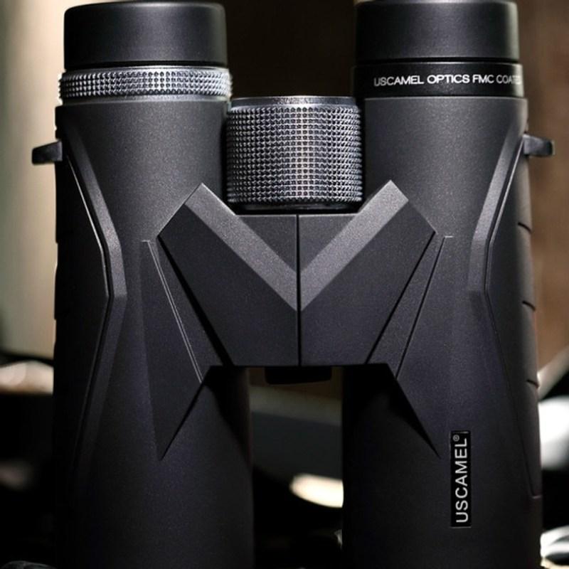야간 투시경 야시경 해루질써치 망원경 USCAMEL 쌍안경 10x42 HD BAK7, 검은 색