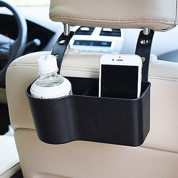 헤드레스트 수납 함 컵 홀더 뒷 좌석 자동 차 량 용 거치 대 보관 2열 커피 음료 추천, 1개