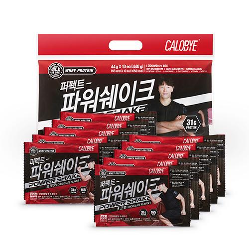 칼로바이 퍼펙트 파워쉐이크 초코맛 파우치, 10개입, 44g