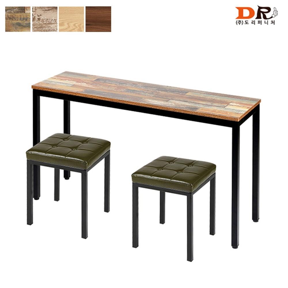도리퍼니처 하모니 + 솔리드 식탁 세트 /2인용 카페 업소용 테이블, 모카+블랙