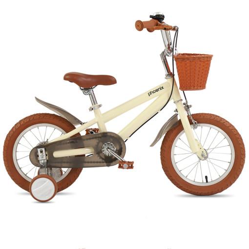 Phoenix 클래식 어린이 네발 조비퀴체인 자전거, 옐로우14인치