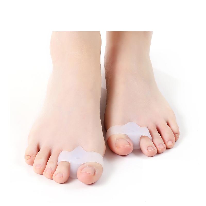 무지외반증 교정기 발가락링 실리콘 발가락교정기 성인용 남녀공용, 화이트1켤레(A1177)