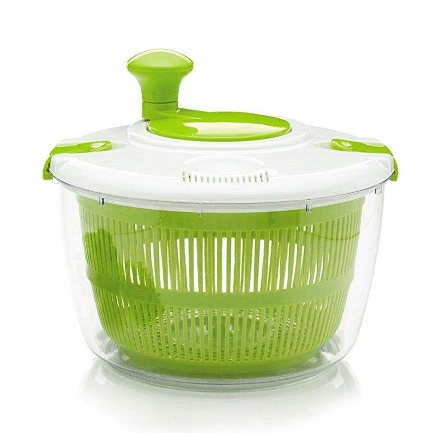 가정용 샐러드 스핀 야채 과일 배수 기계 탈수기, 초록