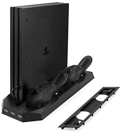 1.예상수령일 2-6일 이내 LIDIWEE PS4 겸용 스탠드 PS4 프로 PS4 슬림 대응 플레이 스테이션 4 수직 스탠, 상세 설명 참조0