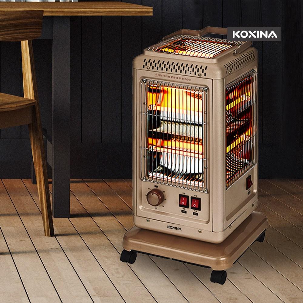 코시나 프리미엄 오방난로 5면 전기히터 오방향 KXN-H5000W, 모카, 오방히터 타이머 모카(KXN-H5500TM)
