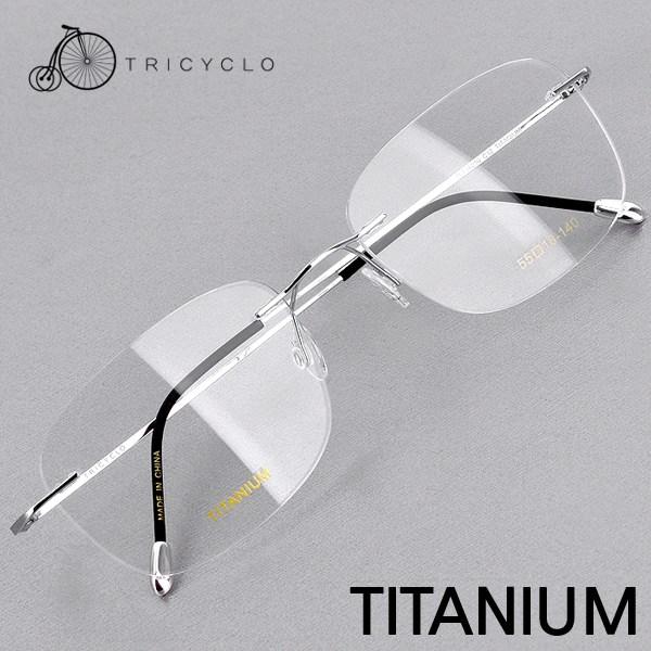 트리시클로 명품 형상기억합금 IP도금 티타늄 안경테 TLT16010-C12(55)