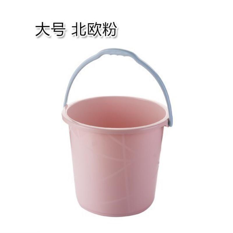 가정용 세차 라지 통 물통 저장 포터블 두꺼워 플라스틱 드럼통 숙성제, 라지 노르딕 핑크