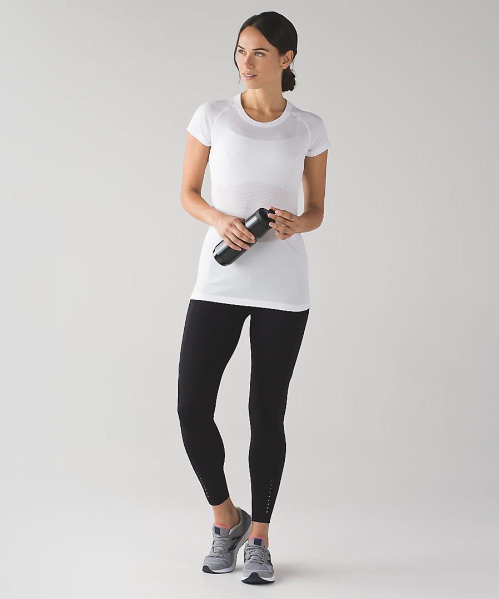 룰루레몬 요가 필라테스 여성 상의 세트 옷 복 달리기 반팔 티셔츠 여성 탑 스팟 속건 슬림 슬림 여름
