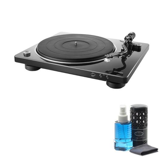 데논 DP-450USB 턴테이블 + LP/CD 클리닝액, 블랙