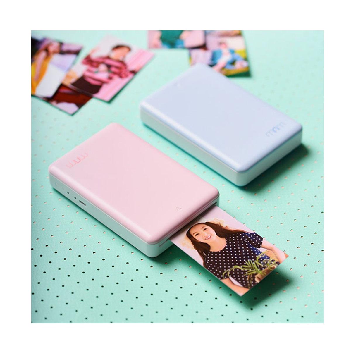 포토프린터 미니미(ZINK타입) minimi R20 (인화지 10매포함) + 충전 케이블, 핑크, 블루, 300개