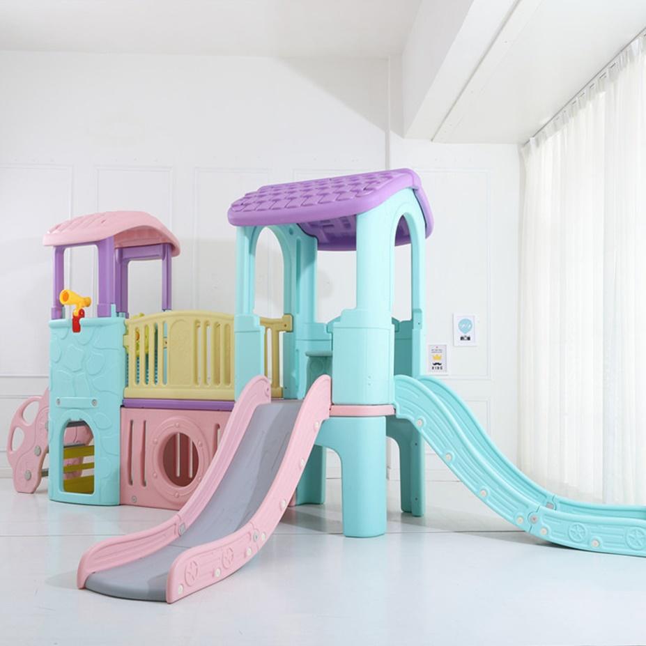 어린이 유아용 대형 실내놀이터 미끄럼틀 정글짐 구름다리 놀이기구, 01, 01_빨간지붕