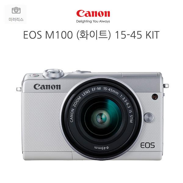 캐논 캐논정품 EOS M100+15-45MM IS STM KIT-화이트 디지털카메라