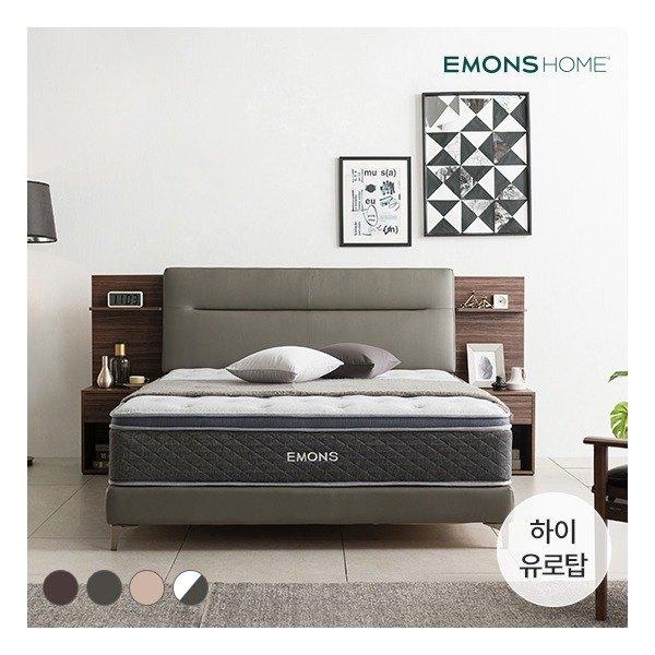[에몬스홈] 휴에디션 침대 SS (하이유로탑매트포함), 색상:초코브라운