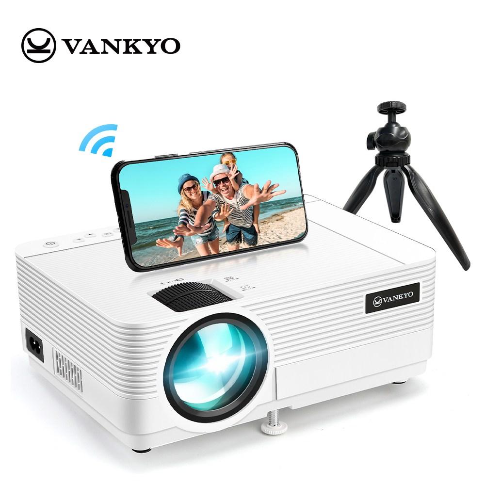 VANKYO Leisure 470 무선미러링 빔프로젝터 가정용 1080P지원 5000루멘 품질보증1년 아마존 판매1위 미니삼각대 포함
