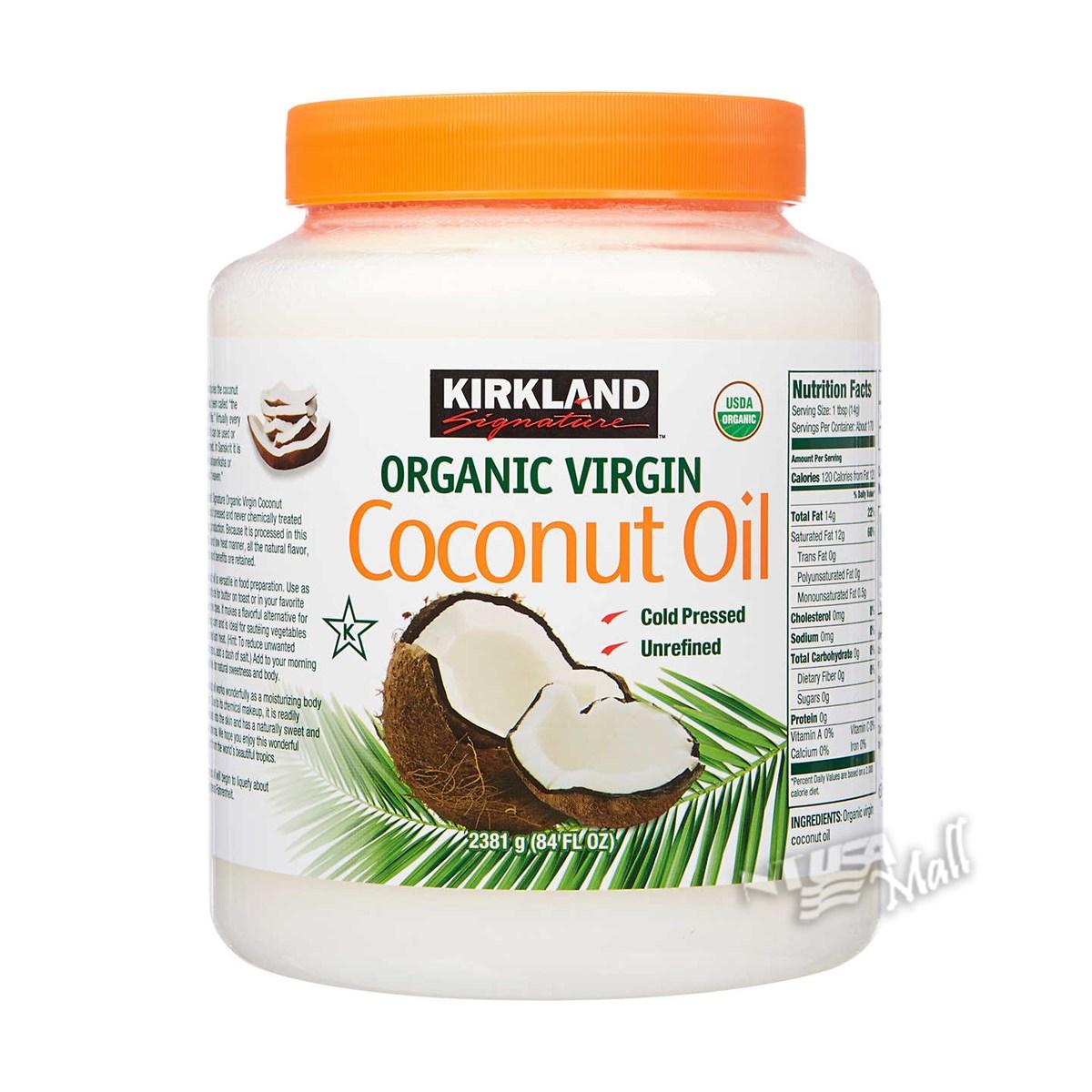 커클랜드 유기농 코코넛 오일 대용량 2.48L KIRKLAND SIGNATURE ORGANIC COCONUT OIL 84 FL. OZ, 단일상품