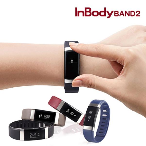 [인바디] 밴드2 손목밴드 포함/체지방 심박수측정 손목시계기능, 색상:Midnight Black
