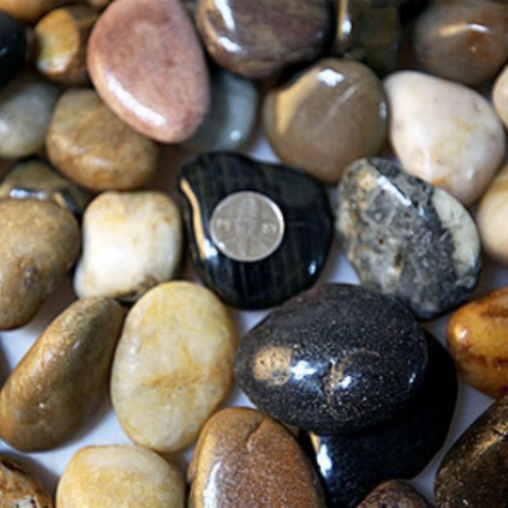 우화석 강자갈 콩자갈 에그스톤 혼합 유광 크기별 3kg, 우화석 혼합 광택(유광) 3kg 소