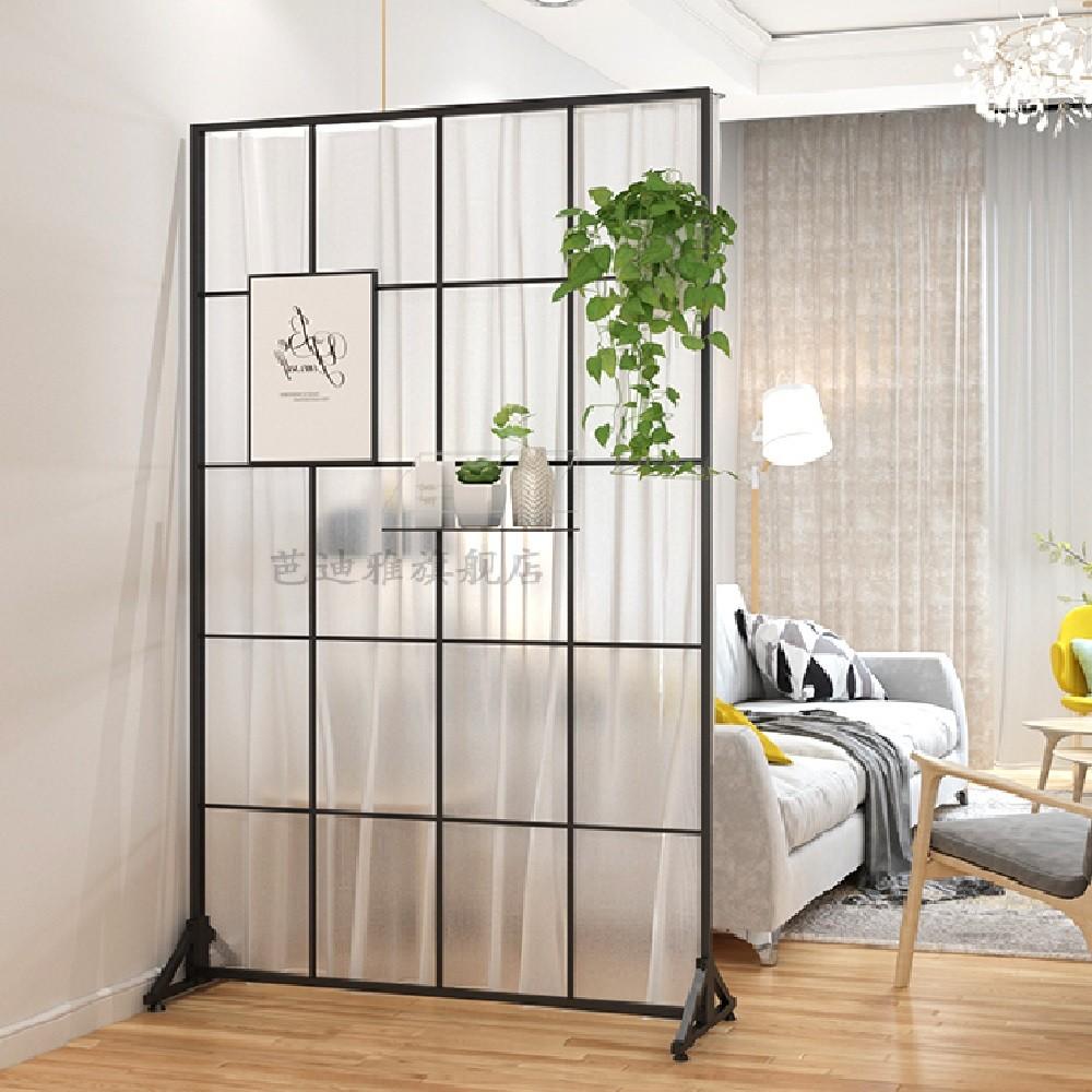 철제 스탠드형 가림막 가리개 커튼봉 인테리어 파티션 공간분리 가벽 예쁜 원룸 침실 파티션, H200 x W80cm